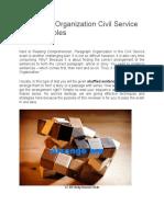 Paragraph Organization Civil Service Test Examples