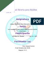 Reporte IV Lengua Española i