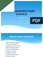 Scoala Geopolitica Anglo-saxona (I)