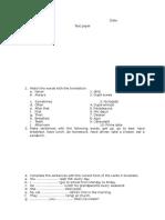 Test 5 Present Simple