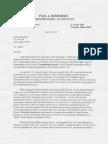 Letter from Mr. Paul Desfosses