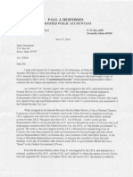 Letter from Mr. Paul Desfosses