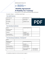 Staff Mobility Agreement Training