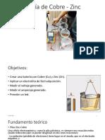 Batería de Cobre - Zinc