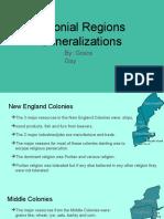 colonial regions generalizations