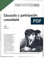Paulo Freire - Educación y participación comunitaria.pdf
