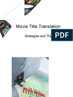 Film Title Translation: Strategies and Theories