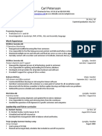 carl petersson resume