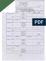Routine Schedule Examination March 2017