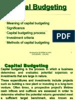 Capital Budgeting L 7