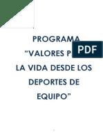Valores Futbol Planeacion