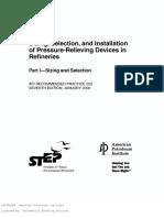 API-RP-520 Pressure Relief Valve in Refineries