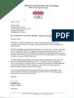 D.C. Inspector General's Investigation Letter