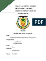 Práctica No 5- IIP-Programación Mediante Interpolación Lineal y Circular _Toapanta J & Ubilluz J