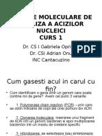 Curs 2_metode Moleculare de Analiza a Acizilor Nucleici