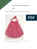 Vestido de Niña Fácil
