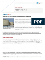Safety in Sulfuric Acid Storage Tanks - Chemical Engineering