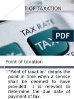 Point of Taxation