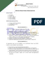 Evaluación de Reactivos Reológicos