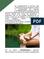 Técnicas Mindfulness y Relajación