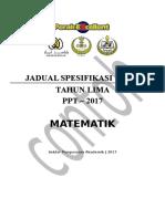 Jsu Matematik Ppt t5 2017