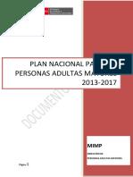 Plan Nacional Para Las Personas Adultas Mayores 2013-2017