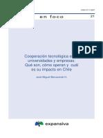 Cooperacion Tecnologica Entre Universidades y Empresas Chi;e