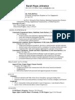 sarah johnstons 2017 resume  pdf