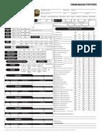 Pathfinder RPG Charakterbogen Formular Mit Automatischen Berechnungen