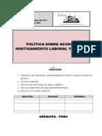 Seg - Pol 005 Politica Sobre Acoso y Hostigamento Laboral y Sexual