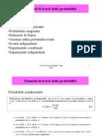 elementi teoria probabilità