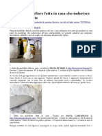 Pasta Da Modellare Fatta in Casa Che Indurisce – Ricette