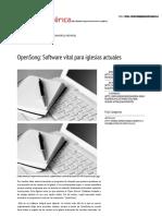 OpenSong_ Software Vital Para Iglesias Actuales _ JNI Región Mesoamérica