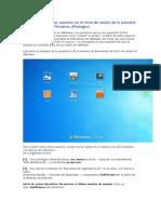 no motrar pantalla de usuarios en windows 7