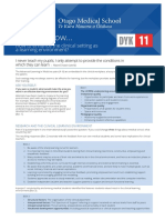 How to Enhance the Clinical Setting as DYK 11 a Learning Environment?