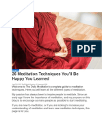 26 Different Types Of  Meditation For You To Learn