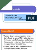 Pengantar Umum Bahasa Indonesia