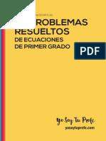 Cuaderno de Problemas de Ecuaciones de Primer Grado Ystp