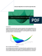 3 Types of Gradient Descent Algorithms for Small & Large Datasets