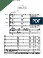 BWV71 - Gott ist mein König