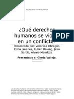 Los Conflictos y Los Derechos Humanos