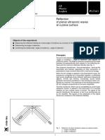 4-Reflexión de Ondas Ultrasónicas Planas en Superficie Plana (Eq)