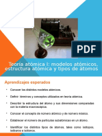 Clase 1 Teoría Atómica I Modelos Atómicos Estructura Atómica y Tipos de Átomos