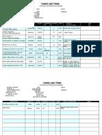 252307561 Bill of Material in Apparel