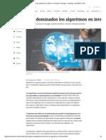 Cómo Funcionan Los Algoritmos en Internet - Novedades Tecnología - Tecnología - ELTIEMPO