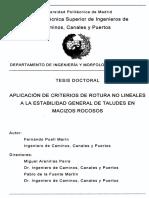 Aplicacion de Criterios de Rotura No Lineales a La Estabilidad General de Taludes en Macizo Rocosos