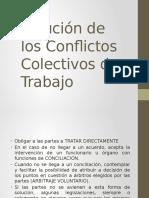 Solución de Los Conflictos Colectivos de Trabajo
