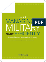 Managing the Military More Efficiently