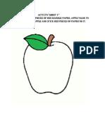 Activity Sheet-pre school