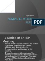 annual iep guide
